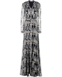 Matthew Williamson Black Long Dress - Lyst