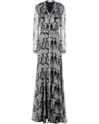 Matthew Williamson Black Long Dress - Lyst