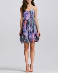 Milly Gemma Printed Silk Dress - Lyst