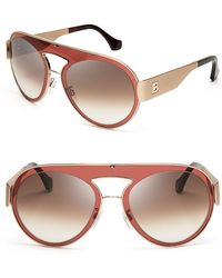 Balenciaga Lens in A Lens Shield Sunglasses - Lyst