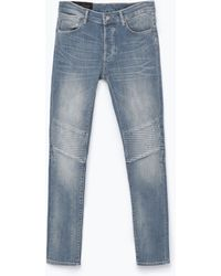 Zara Jeans With Knee-Patches - Lyst
