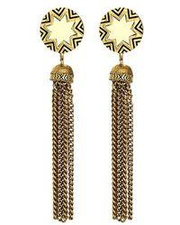 House of Harlow 1960 - Meteora Rose Quartz Drop Earrings - Lyst