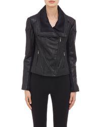 Barneys New York Neo Leather Jacket - Lyst