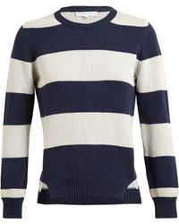 Chinti And Parker Striped Cotton Knitted Jumper - Lyst