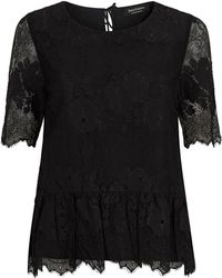 Juicy Couture Peplum Hem Lace Top - Lyst