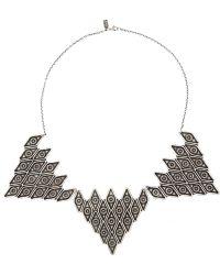 Pamela Love Oculus Silver Necklace - Lyst