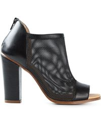 MM6 by Maison Martin Margiela Chunky-Heel Mesh Boots - Lyst