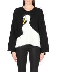 Wildfox Knitted Swan Dive Jumper - Lyst
