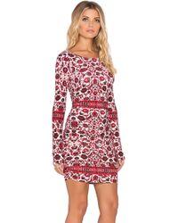 Gypsy 05 - Shirred Printed Mini Dress - Lyst