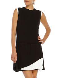 Victoria Beckham Pleated Ruffle Dress - Lyst