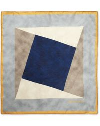 Boglioli - Printed Fine Silk Pocket Square - Lyst