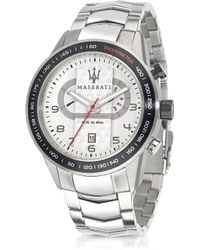 Maserati - Corsa Chronograph Stainless Steel Mens Watch - Lyst