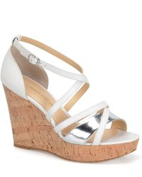 Carmen Marc Valvo - Sabina Wedge Sandals - Lyst