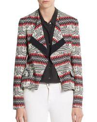 Etro Paisley Stripe Open-Front Jacket - Lyst
