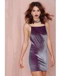 Nasty Gal After Party Vintage Claudia Velvet Dress - Lyst