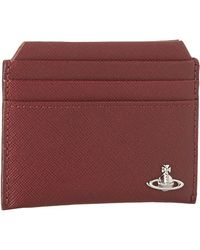 Vivienne Westwood Saffiano New Credit Card Holder - Lyst