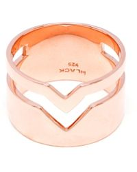 Maria Black Rose Gold Fooled Heart Ring - Lyst