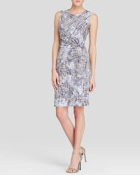 Nic + Zoe Nic + Zoe Graphic Print Twist Waist Dress - Lyst