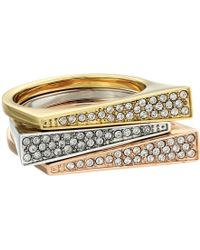 Michael Kors Pave Triangle Stackable Rings - Lyst