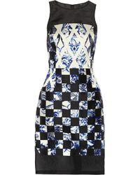 Tibi Printed Silk Dress - Lyst