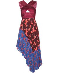 Stella McCartney Printed Silk Dress - Lyst