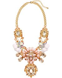 H&M Sparkly Necklace gold - Lyst
