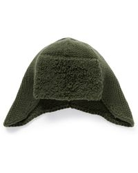Armand Diradourian - Towel Band Rib Knit Cashmere Trapper Hat - Lyst