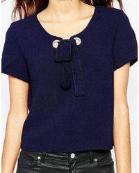 TFNC | Lyn Top With Rope Lace Up Detail | Lyst