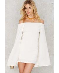 Nasty Gal | Brushing Shoulders Cape Dress | Lyst