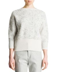 Jil Sander 34sleeve Bubblestitch Sweater - Lyst