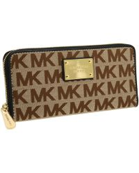 Michael by Michael Kors Mk Logo Zip Around Continental - Lyst