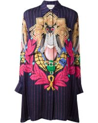 Mary Katrantzou Pigeon Badge Oriane Blouse Dress - Lyst