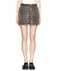 Elizabeth And James Alistaire Leopard Print Shorts - Lyst