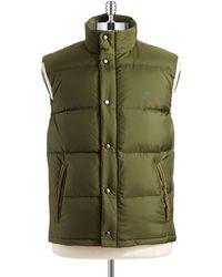 Original Penguin - Button-Down Puffer Vest - Lyst