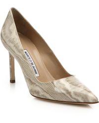 Manolo Blahnik | Bb Patent Leather Point-toe Pumps | Lyst