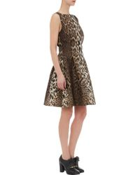 Lanvin Leopard Jacquard Sleeveless Dress - Lyst