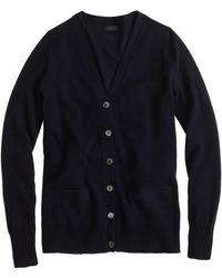 J.Crew Collection Cashmere Boyfriend Cardigan Sweater blue - Lyst