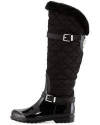 MICHAEL Michael Kors - Fulton Quilted Rain Boot - Lyst