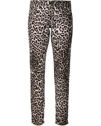 Rag & Bone Animal Print Jeans - Lyst