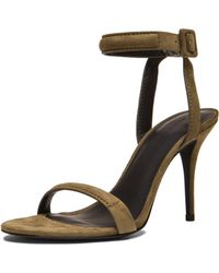 Alexander Wang Antonia Suede Ankle Strap Sandals - Lyst