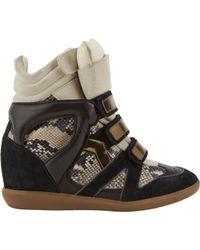 Isabel Marant Bonny Hidden Wedge Sneakers - Lyst