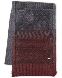 BOSS | Medium Grey Knit Scarf | Lyst