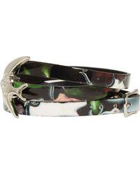 McQ by Alexander McQueen Black Festival Floral Swallow Wrap Bracelet - Lyst