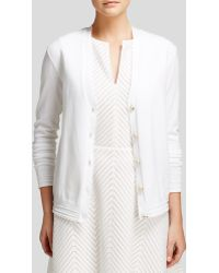 Tory Burch White Madison Cardigan - Lyst