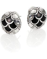 John Hardy | Naga Enamel & Sterling Silver Button Earrings | Lyst