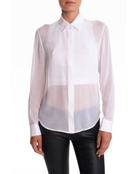 Alexander Wang Button Down Blouse - Lyst