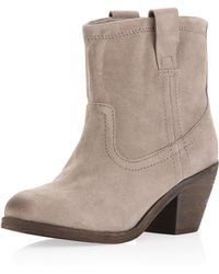 Ash Nina Suede Ankle Boots Stone 9 - Lyst
