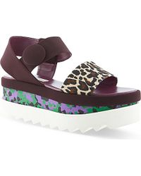 Stella McCartney Beale Flatform Sandals - Lyst