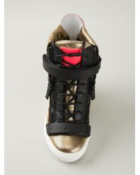 Giuseppe Zanotti Wedge Hi-Top Sneakers - Lyst