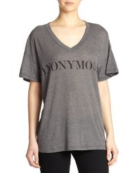 Wildfox 'Anonymous' Printed Tee black - Lyst